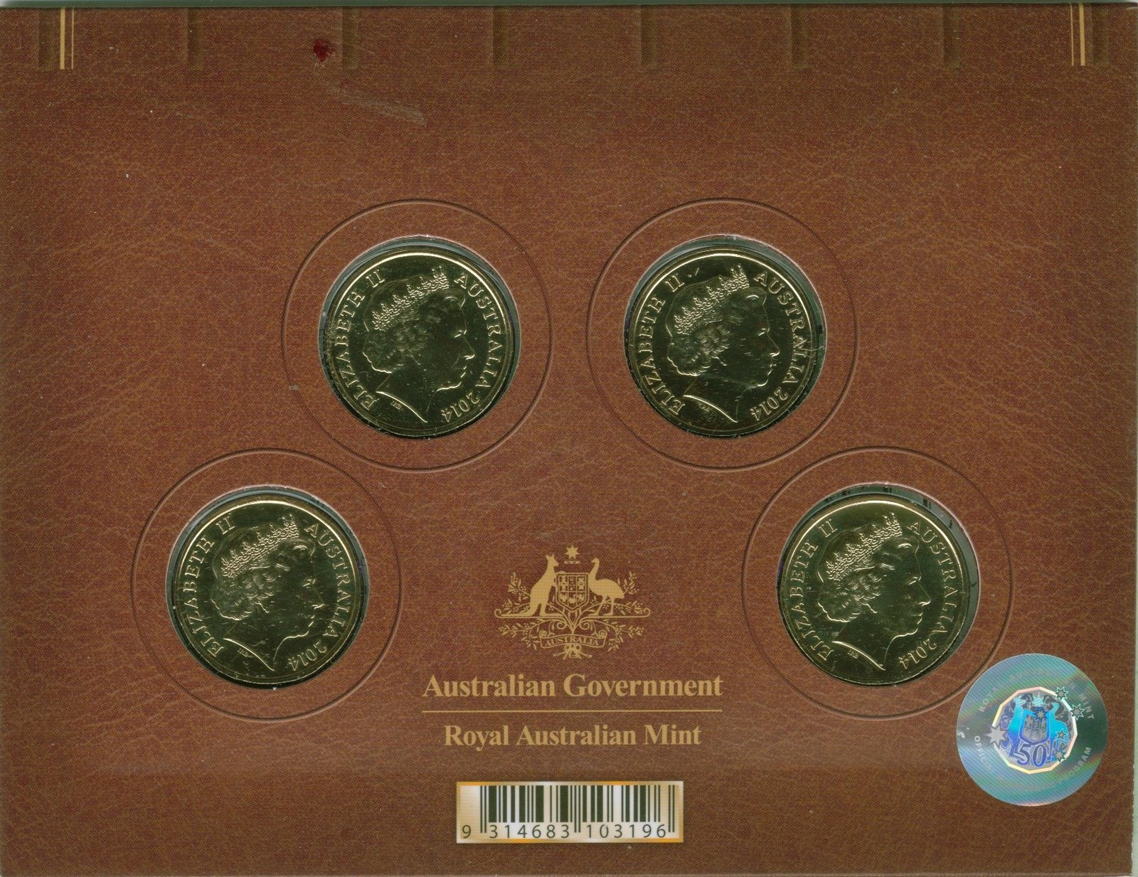 2014 Voyage to Terra Australis 4 Coin Mint & Privy Marks