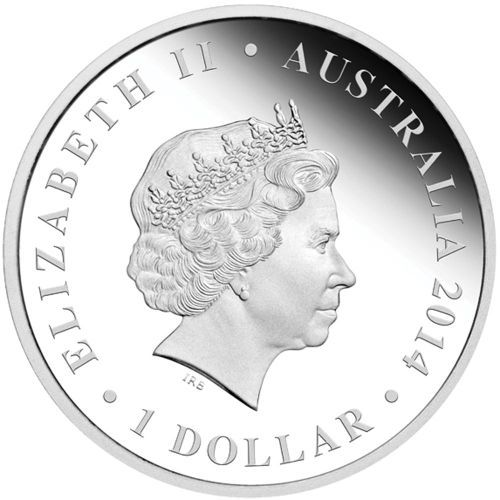 2014 $1 The Land Down Under Series 1oz Silver Coin Gold Rush
