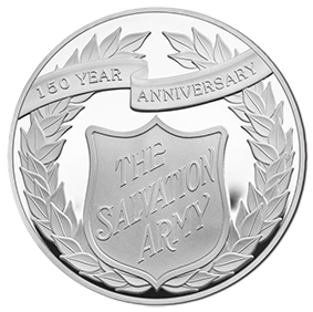 2015 150th Anniversary of the Salvation Army £5 Alderney Silver Proof Coin