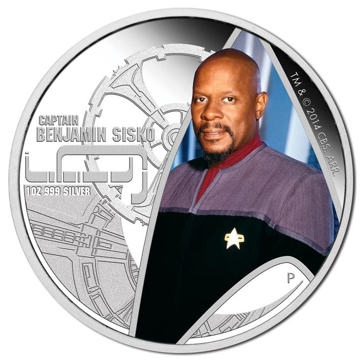 2015 $1 Star Trek - Captain Sisko & Deep Space Nine 1oz Silver Proof Pair