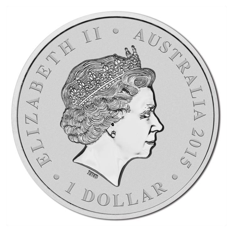 2015 1oz Silver Intaglio $1 Coin The Longest Reigning Monarch QEII