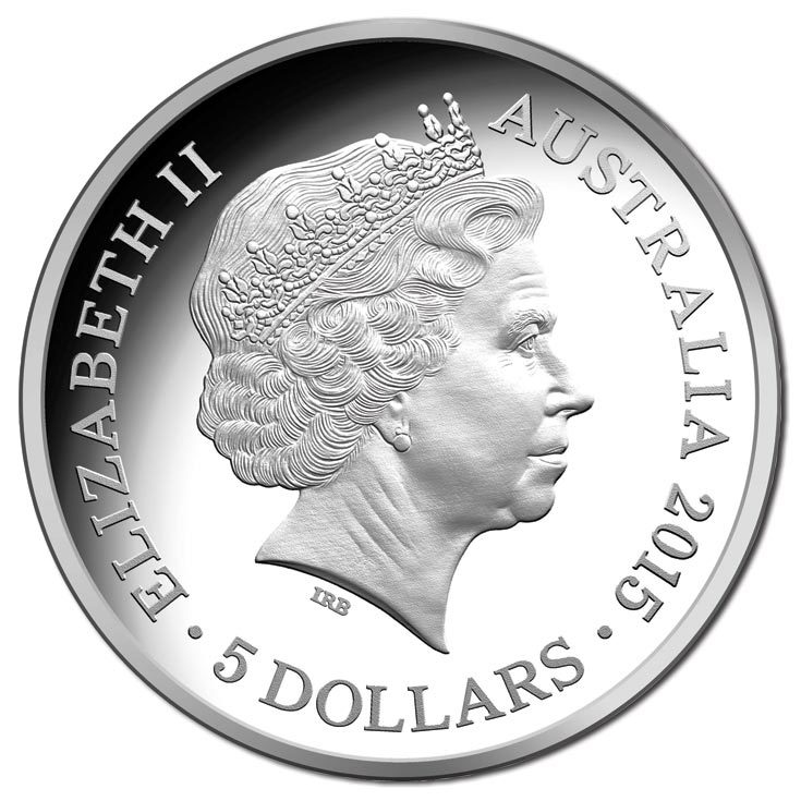 2015 $5 Longest Reigning Commonwealth Monarch 1oz Fine Silver Proof Coin