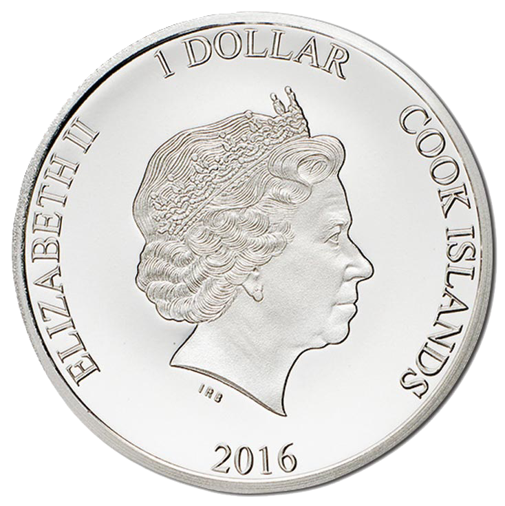 2016 $1 90th Birthday 2g Silver Proof Cook Islands