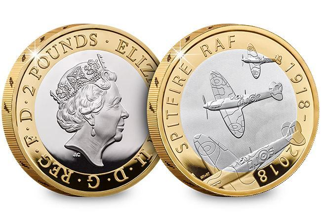 2018 £2 RAF Centenary Spitfire Silver Proof