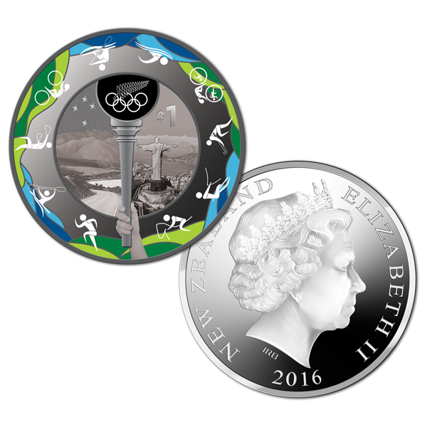 2016 NZD$1 Road to Rio Silver Proof Coin