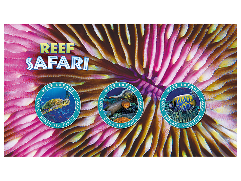 2018 Reef Safari 3 Medallion Stamp Cover