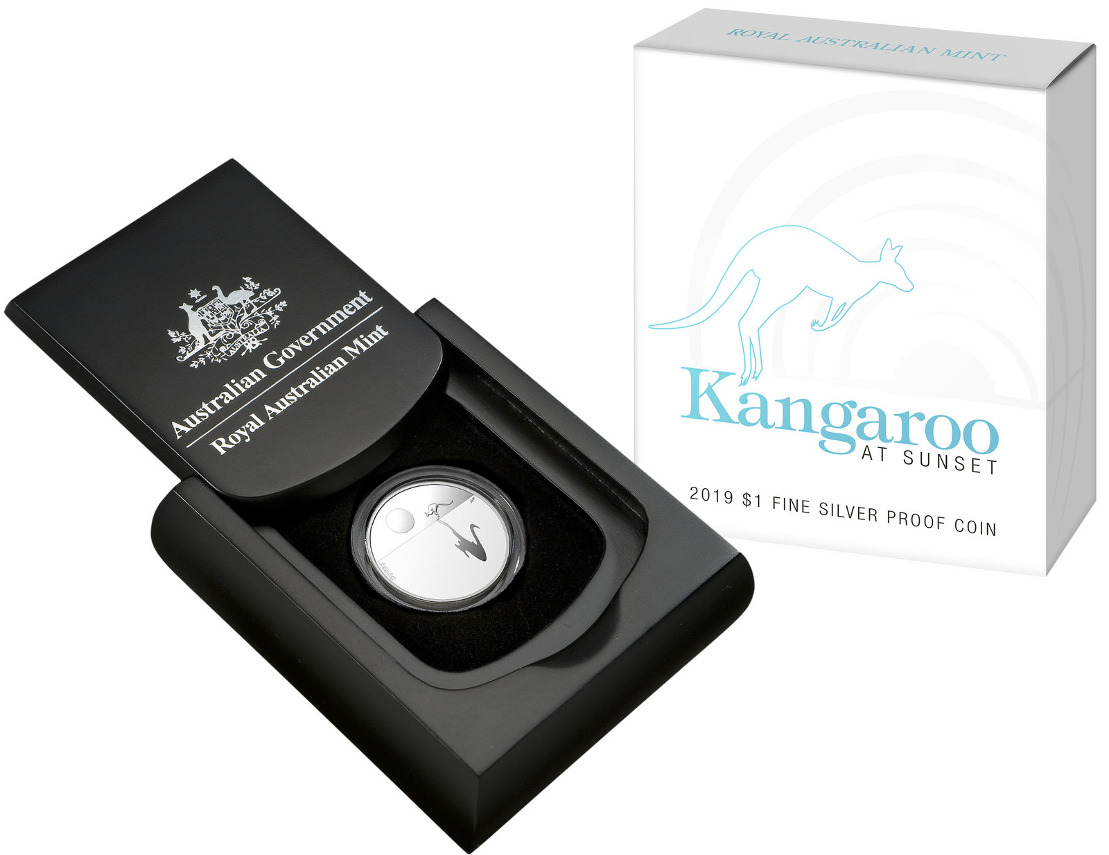 2019 $1 Kangaroo at Sunset Fine Silver Proof