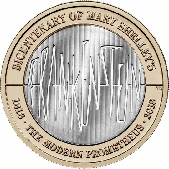 2018 UK £2 200th Anniversary of Frankenstein Brilliant Unc