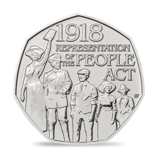 2018 50p 100th Anniversary of the 1918 Representation of the People Act BU