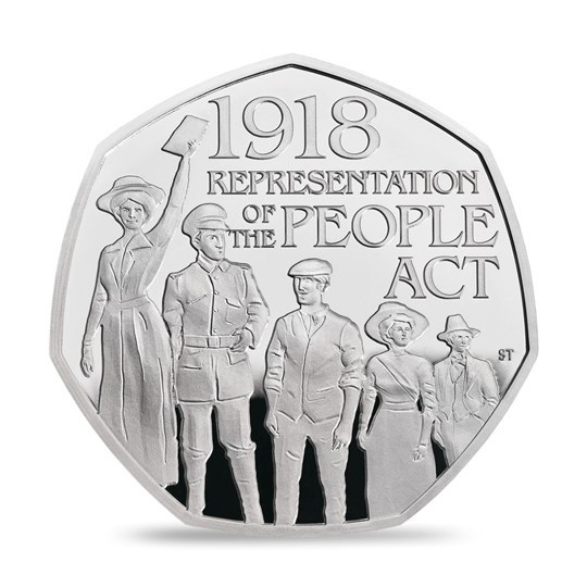 2018 50p 100th Anniversary of the 1918 Representation of the People Act Silver Proof