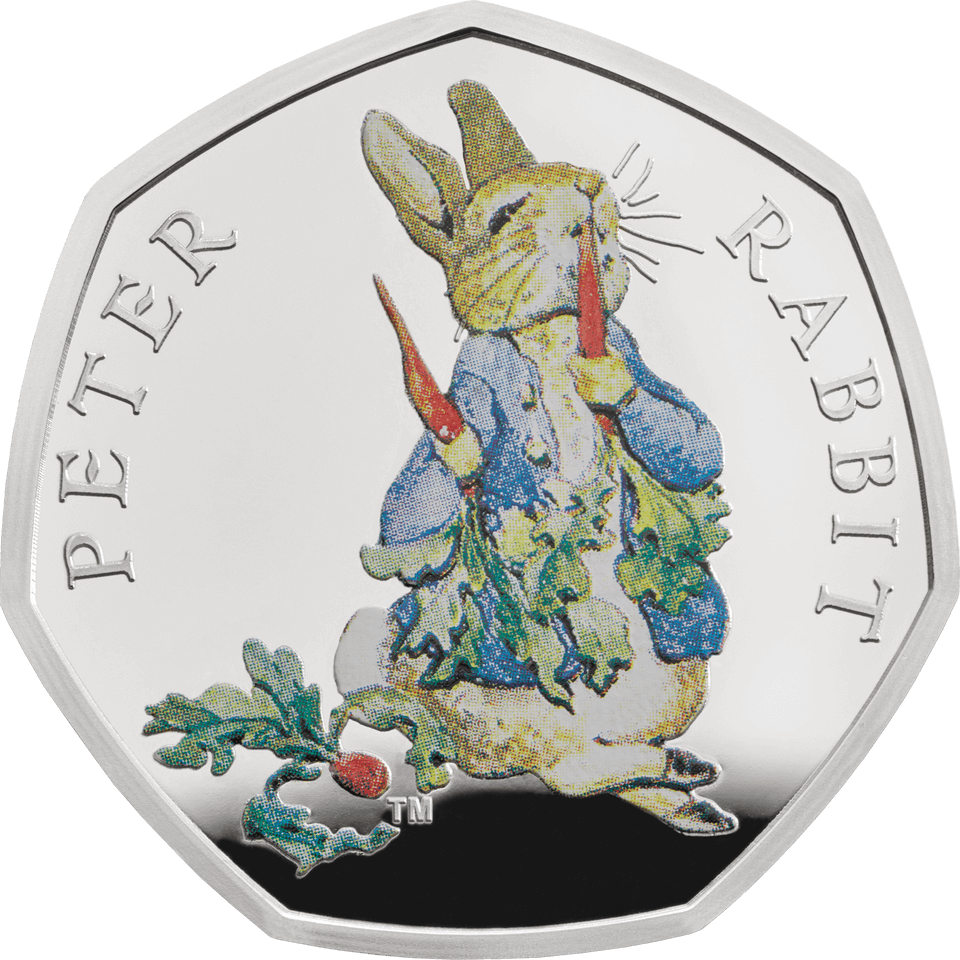 2018 50p Peter Rabbit Silver Proof Coin