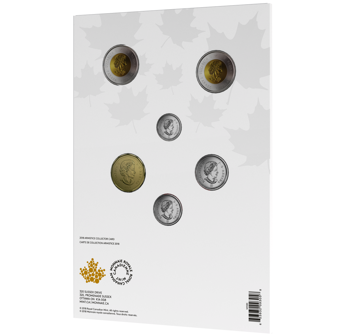 2018 Canadian Armistice Commemorative Coin Set