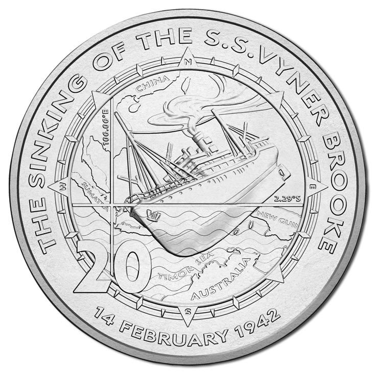 2017 20c Sinking of The SS Vyner Brooke Unc