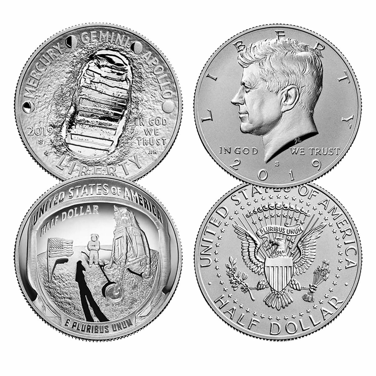 2019 Apollo 11 Moon Landing 50th Anniversary 2 Coin Proof Set