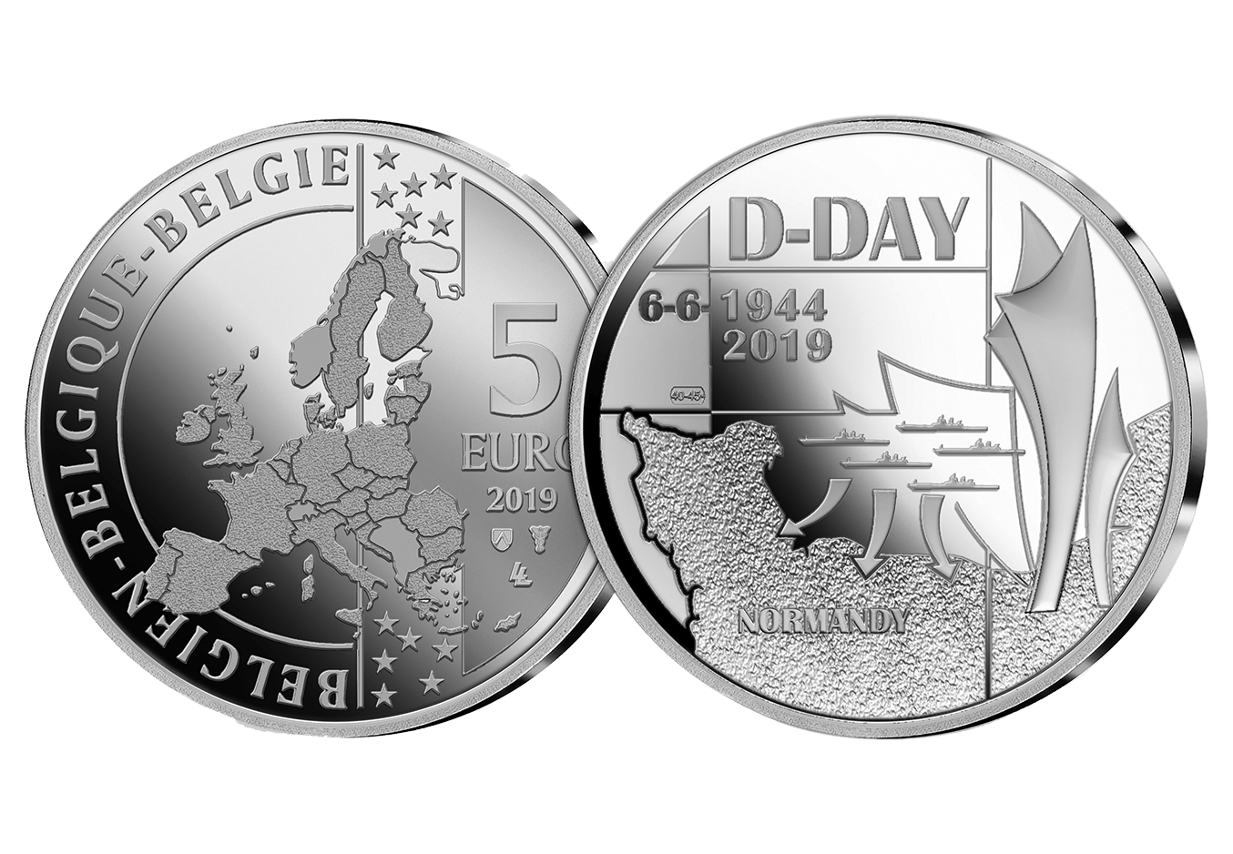 2019 75th Anniversary of D-Day 4 Coin Set