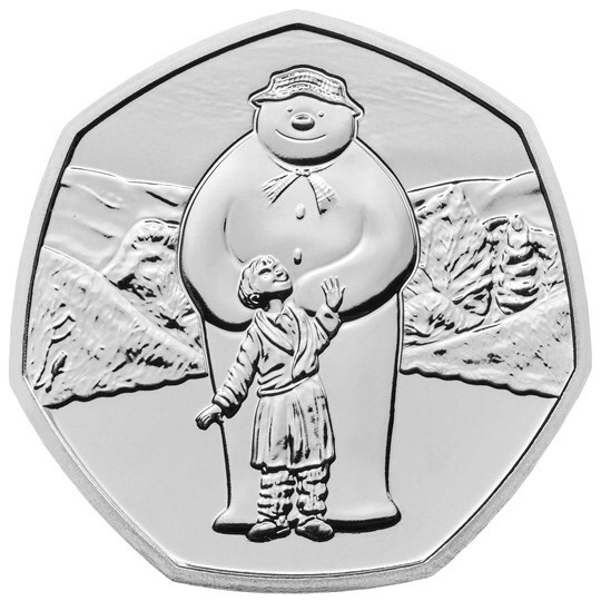 2019 50p The Snowman Brilliant Unc Coin
