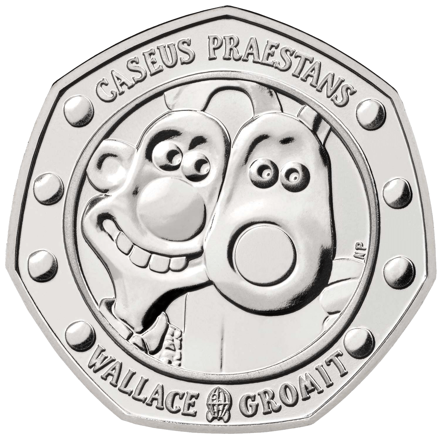2019 50p Wallace and Gromit Brilliant Unc Coin