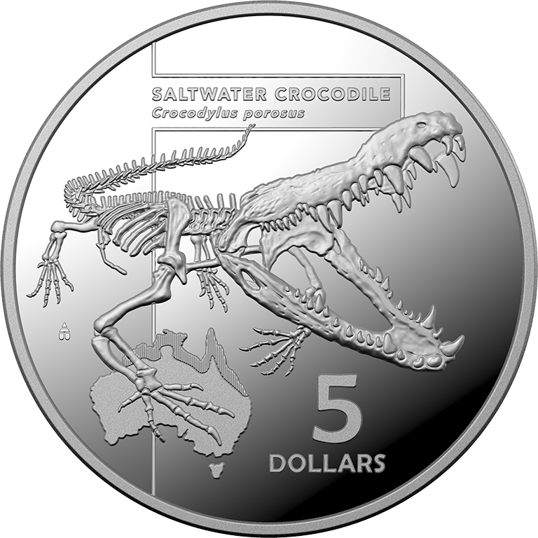 2020 $5 Inside Austrealia's Most Dangerous - Saltwater Crocodile Silver Proof Coin