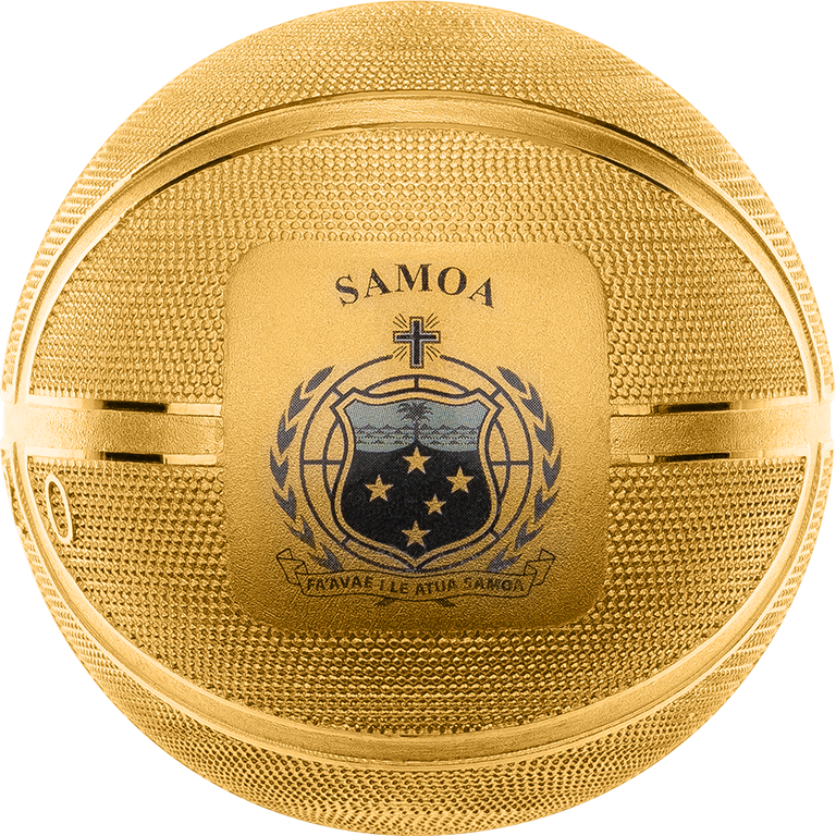 2020 $5 Basketball Spherical 1oz Silver Gold-Plated Coin