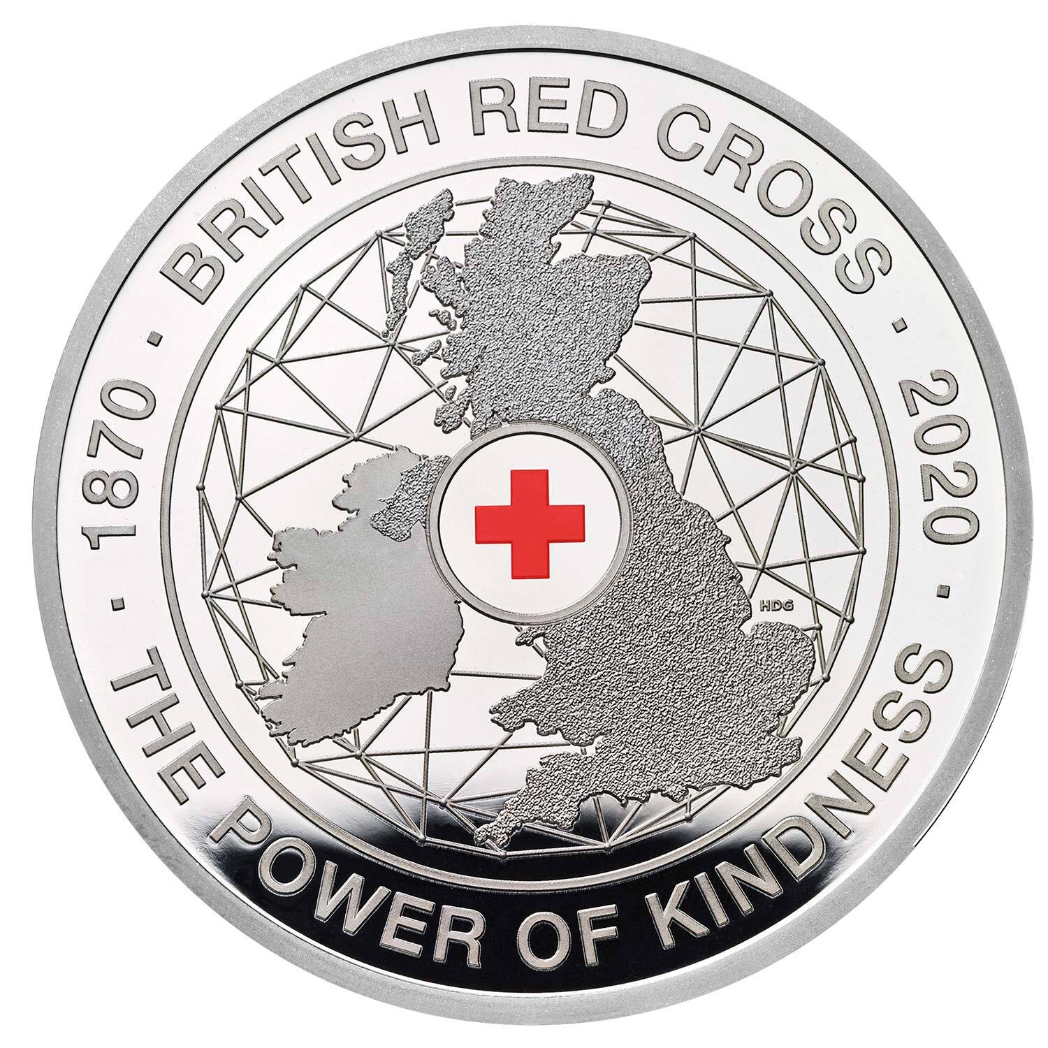 2020 £5 150th Anniversary of the British Red Cross Silver Proof Coin