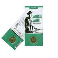 2014 $1 100 Years of Anzac Coin M Counterstamp