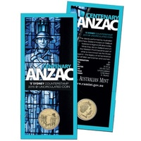 2015 $1 Centenary of ANZAC 'S' Counterstamp