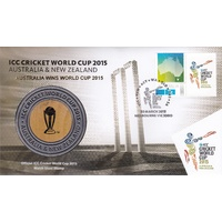 2015 ICC Cricket World Cup Medallion Cover