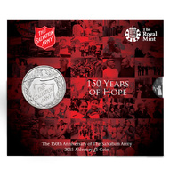 2015 150th Anniversary of the Salvation Army £5 Alderney BU Coin