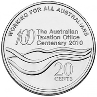 2010 20c Centenary of the Australian Tax Office Mint Bag