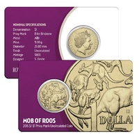 2015 $1 Mob of Roos 'B' Privy Mark
