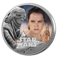 2016 Niue $2 Star Wars - the Force Awakens - Rey 1oz Silver Proof Coin