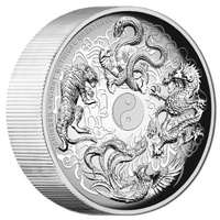 2016 $1 Mythical Creatures 1oz High Relief Silver Proof