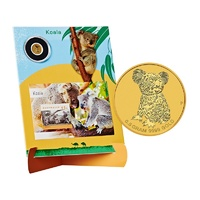 2015 Koala Stamp Mini Sheet and 0.5g Gold Coin