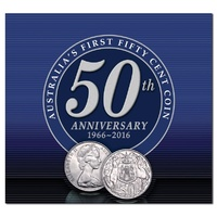 1966 50c Round 50th 1966-2016 Anniversary Pack