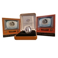 2006 $1 50 Years of Aust TV Silver Proof Coin