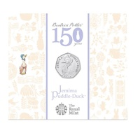 2016 UK 50p Jemima Puddle Duck 150th Anniversary BU