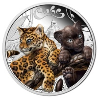 2016 50c Jaguar Cubs 1/2oz Silver Proof