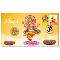 2018 Diwali Festival $1 Stamp & Coin Cover