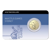 2018 $2 Invictus Games Card Unc Coin
