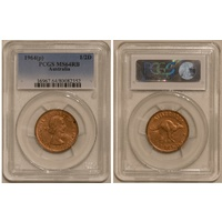1964 Half Penny MS64RB