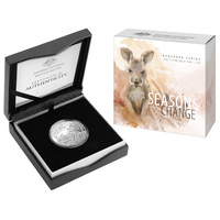 2019 $1 Seasons Change Kangaroo Series Silver Proof Autumn