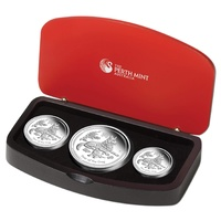 2018 Lunar Dog Silver Proof 3-Coin Set