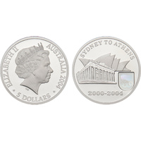 2004 $5 Sydney to Athens Fine Silver Proof