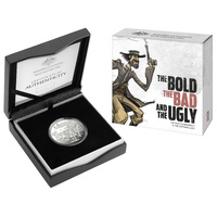 2019 $1 The Bold, The Bad & The Ugly Silver Proof Coin