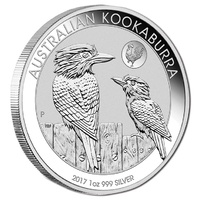 2017 $1 1oz Kookaburra Silver BU with Rooster Privy Mark