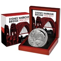 2017 $5 Sydney Harbour Bridge High Relief 2oz Silver Proof