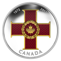 2017 CA$20 45th Anniversary of the Cross of Valour Silver Coloured Coin