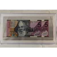 2001 $5 Federation Note Consecutive Pair in Capsule