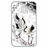 2019 TU$1 Chinese Wedding Rectangular Silver Proof Coin