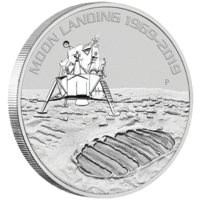 2019 $1 50th Anniversary of the Moon Landing Silver Bullion Coin